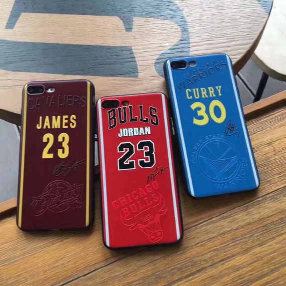 James Phone Cases For Iphone7 6 6s Plus 7plus Curry Soft Tpu Painting Cover Basketball Football Man Defender Case