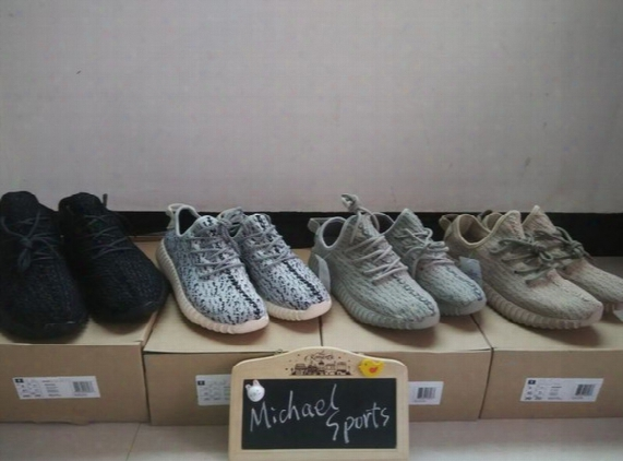 Kanye West 350 Boost Oxford Tan Moonrock Pirate Black Turtle Dove Grey Sneakers 2016 Fashion Sports Running Shoes Good Quality Version