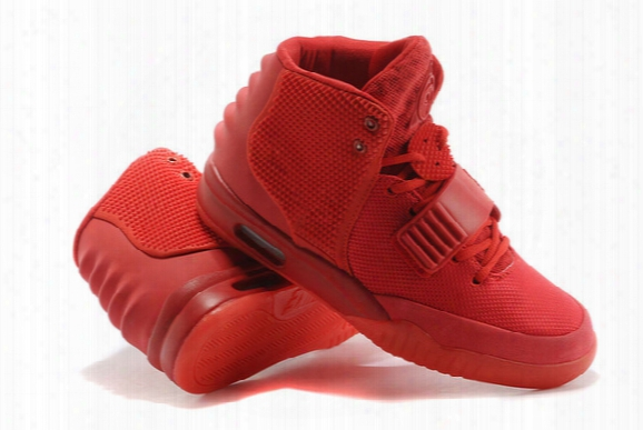 Kanye West Air 2 Red October Black Solar Red Athletic Basketball Shoes Kanye West 2 Trendy Shoes Sneakers Man And Woman Basketball Shoes
