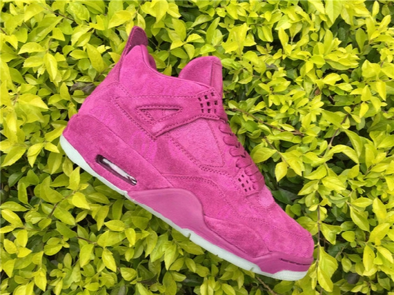 Kaws X Air Retro 4 Purple Online Iv 4s Men Women Sport Shoes Free Shipping Good Quality Fashion Design Size 36-47