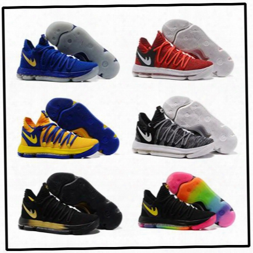 Kd 10 Kids Basketball Shooes Hot Sales Kevin Durant Fmvp Sneakers Childrens Shoes Free Shipping Size 36-40