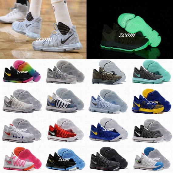 Kd 10 Oreo Still Kd Anniversary Black Green Basketball Shoes Sneakers Kd10 Men Shoes Sport Kevin Durant 10s Trainers