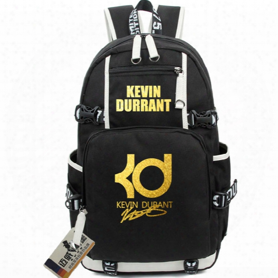 Kevin Durant Backpack Luminous Bronzing Version Basketball Bags Kd Logo Computer Bag High School Students Bags