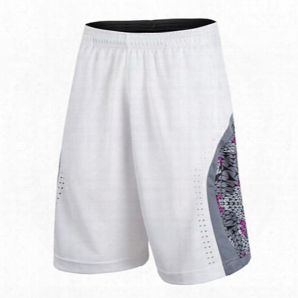 Lightweight Printing Regular Basketball Shorts Breathable Polyester Knee-length Running Shorts Active Loose Sport Shorts For Man