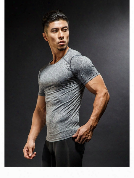 Luxury Brand Sports T-shirt Quick-drying Fitness Clothes Newest Tights Men's Running Short-sleeved Basketball Shirt Thailand Quality No.ua34