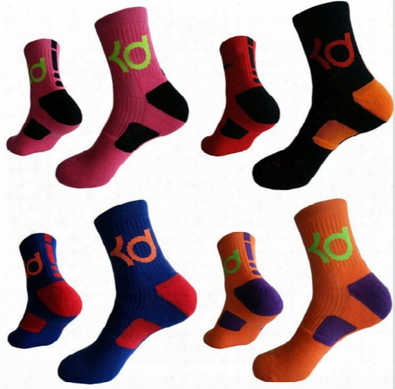 Mens Brand New Cotton Thick Bottom Towel Deodorant Movement Male Socks High Kd Elite Basketball Football Soccer Sports Crew Sock Terry Socks