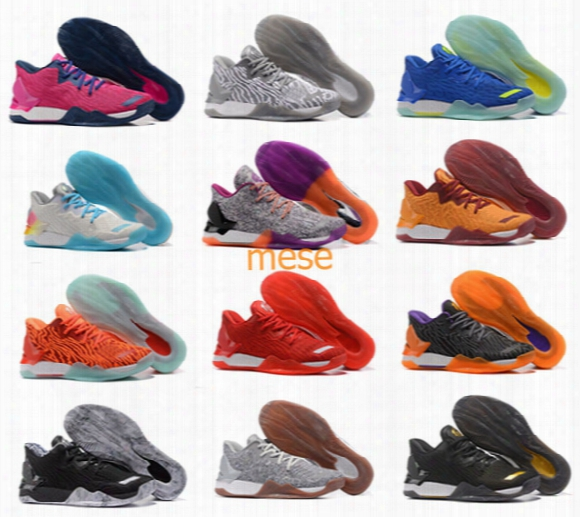 New 12 Colors D Rose 7 Low Englewood Boost Men Basketball Shoes Derrick Oreo Bhm Bruce Pink 7s Casual Sports Sneakers Size 40-46