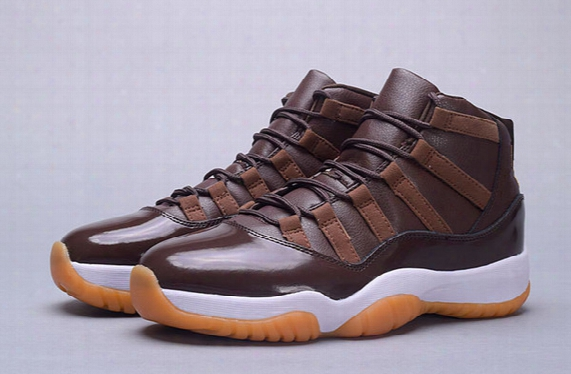 New 2016 Wholesale Air Retro 11 72-10 Chocolate Men Basketball Shoes Ens Sports 11s Sneakers Brand High Boots Good Quality Size 40-47