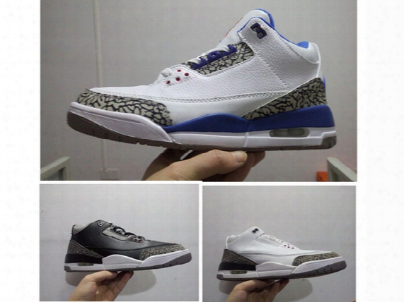 New 3s True Blue Mens Basketball Shoes Cements Outdoor Sports Shoes Atheletic Retro Sneaker 3 Retro Iii Black White