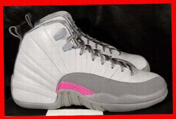 New Arrival Woman Basketball Shoes Air Retro 12 Gs Wolf Grey Vivid Pink Cool Authorize Xii 12s Designers Womens Sport Shoe Women's Sneaker
