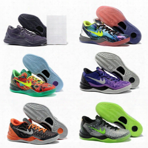 New Drop Shipping Wholesale Famous Bryant 8 Mens Sports Basketball Shoes Kobe Sneakers Size 7-12