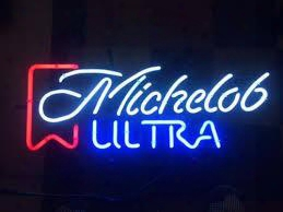 New Michelob Ultra Glass Neon Sign Light Beer Bar Pub Sign Arts Crafts Gifts Lighting 26""