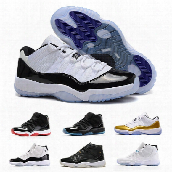 New Retro 11 Space Jam 45 Basketball Shoes Men Women 11s Space Jam With Number 45 Sports Sneakers High Quality With Shoes Free Shipping
