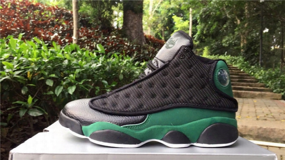 New Retro 13 Black Green White Online Mens Basketball Shoes Xiii 13s Trainers For Boy Hot Sale Comfortable Design