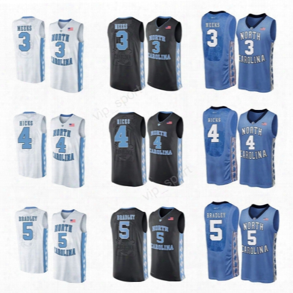 North Carolina Tar Heels 3 Kennedy Meeks Jersey College 5 Tony Bradley 4 Isaiah Hicks Basketball Jerseys Custom Sport Black Blue White