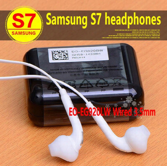 Original Earphones For S7 S6 Edge Galaxy Headphone High Quality In Ear Headset With Mic Volume Controls With Retailbox