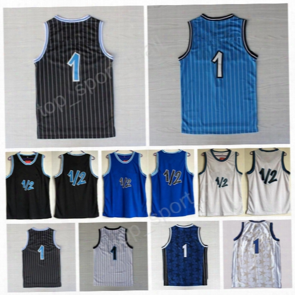 Penny Hardaway 1 Throwback Uniforms Basetball Blue White Black 1/2 Lp Penny Anfernee Hardaway Jersey Sport Stitching With Player Name