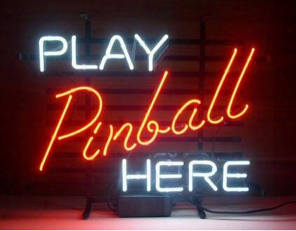"Play Pinball Here Game Room Neon Sign Light Real Glass Tuble Bar Disco Ktv Pub Store Display Neon Light Sign 17""x14"""