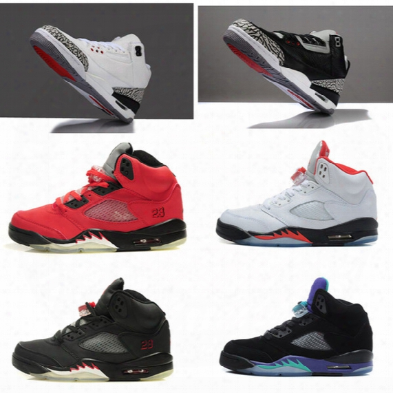 Plus Size Retro Basketball Shoes For Men Black 5s Grape 3s Cement Basket Boots 3 5 Sneaker Bigger Size 14 15 16