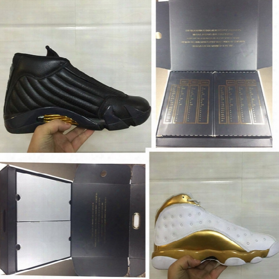 Real Carbon Fiber Retro Xiii 13s 14s Dmp Pack Mens Basketball Shoes Sneaker White Black Gold Air Athletic Training Tennis With Original Box