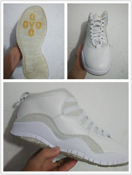 Retro 10 Ovo Black X Summit White New Men Basketball Shoes Ovo Sneakers 2015 Sports Shoes Us Size 8-13 Free Ship 819955-100