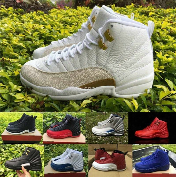 Retro 12 Men Basketball Shoes High Quality Retros Xii Boots Sport Shoes 12s French Blue The Master Gym-red Ovo White Wolf Grey Sneakers