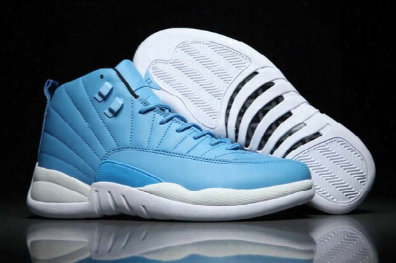 Retro 12 Xii Pantone Blue White Silver Retros 12s Barons Unc Basketball Shoes Men Women Gs Cheap Gym Red Athletic Sneakers Size 36-47