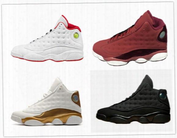 Retro 13 Basketball Shoes Dmp History Of Flight Hof Black Cat Red Velvet Heiress Play Off He Got Game Barons Grey Toe Sneakers