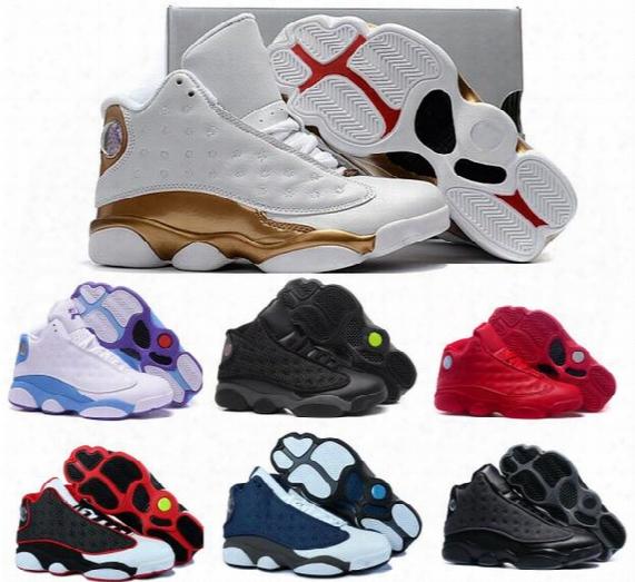 Retro 13 Basketball Shoes Dmp Men Women Brave Blue Air Retros 13s Xiii Low Men's Women's Sport Femme China Athletic Sneakers Shoes