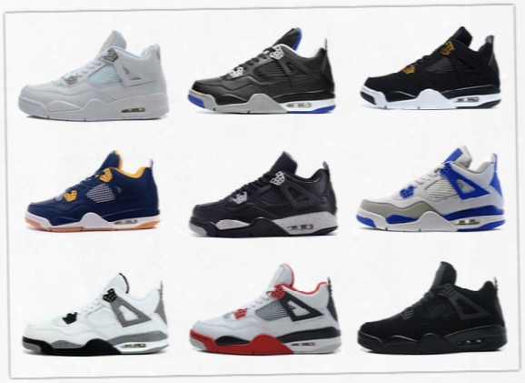 Retro 4 Basketball Shoes Pure Money Sneaker Alternate Motorsports Royalty White Cement Bred Military Blue Oreo Be Afraid Pack Black Cat 2017