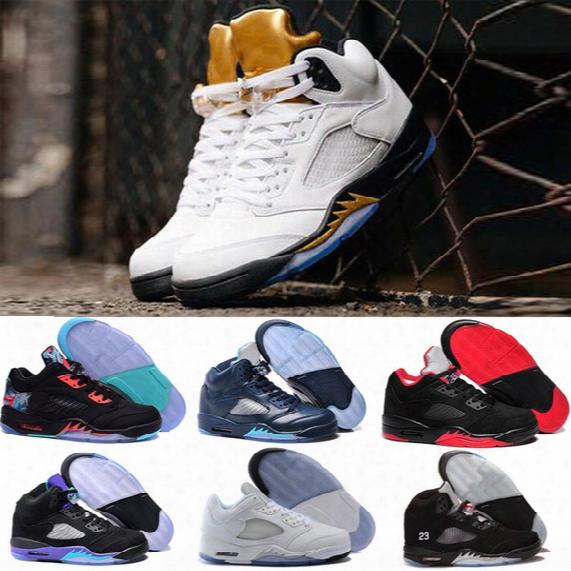 Retro 5 V Low Neymar Basketball Shoes Men Women Retro 5s Olympic Gold Metallic Tongue Royal Blue Grape University Red Sport Sneakers
