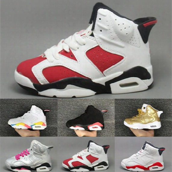 Retro 6 Kids Basketball Shoes Youth Sports Shoes Boys Girls Authentic Running Shoes