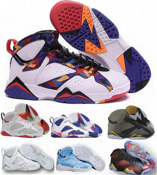 Retro 7 Basketball Shoes Men Women 2017 New Authentic Retros 7s Vii Women Men Shoe Replica Zapatos Mujer Homme Philippines Sneakers Cheap