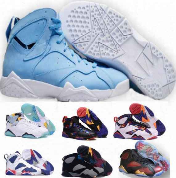 Retro 7 Basketball Shoes Women Men Real Sneakers Authentic Replica Zapatos Mujer Homme Discount 2017 Retros Shoes 7s Vii Sale