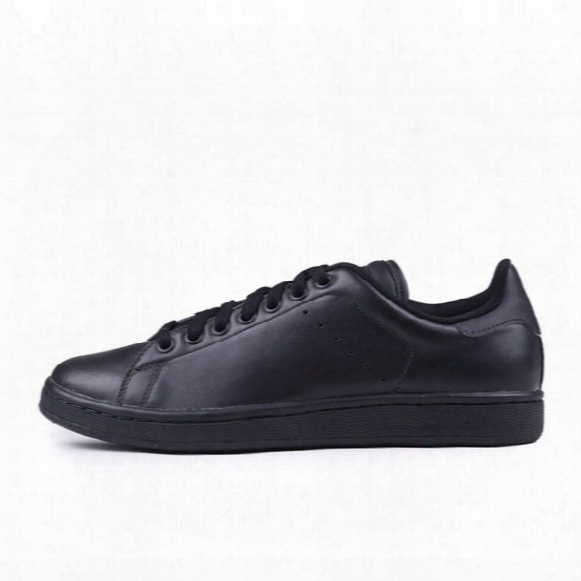 Retro Classic Stan Smith Shoes All Black Leather Green Blue Red Pink Laser Back White Men Women Casual Shoes 8 Colors