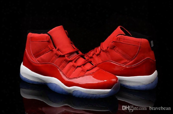 Sport Sneakers Air Retro 11 Gs Carmelo Anthony Pe Red Men's Shoes For Basketball Sports Retro 11 Hight Bred Trainer Shoes With Box