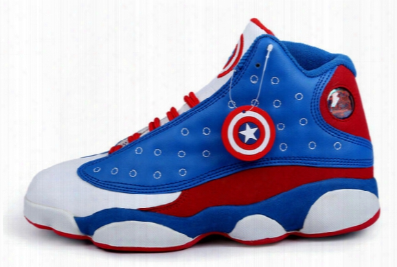 The Avengers 2016 New Hot Retro 13 Man Basketball Shoes Men Cheap Sports Shoes Leather Shoes Basketball Shoes Air 13 Shoes