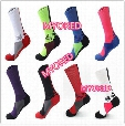 8 color USA Professional Elite Basketball Socks Long Knee Athletic Sport Socks Mens brands new thick towel bottom Compression Thermal Socks