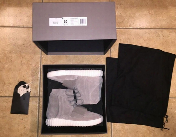 Top Quality Boost 750 Top Quality Kanye Blackout Gray Black Hot Sale Men And Women Size