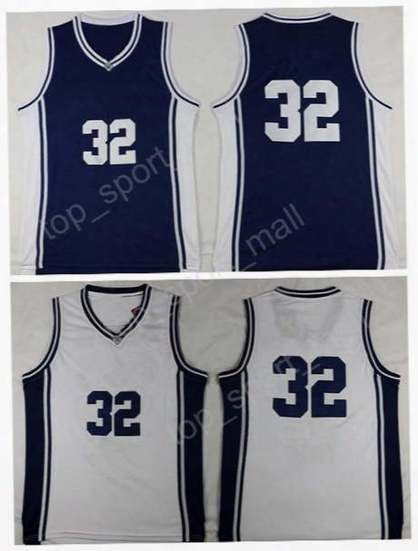 Top Sale 32 Jimmer Fredette College Jersey 2017 Basketball Brigham Young Cougars Jerseys Navy Blue White Free Shipping With Player Name