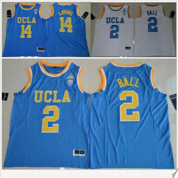Ucla Bruins #2 Lonzo Ball 14 Zach Lavine Pac-12 Mens American College Stitched Embroide Ry Basketball Uniforms Shirts Sports Team Pro Jerseys
