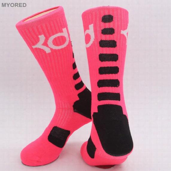 Usa New Knee High Elastic Crew Socks Elite Basketball Football Soccer Sport Long Tube Crew Sock Terry Towel Kd Socks For Men Women Dressing