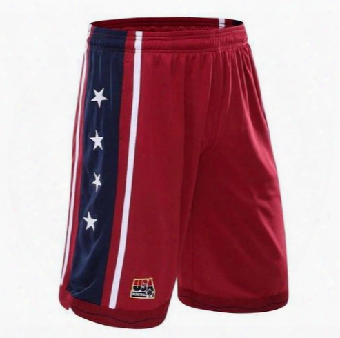 Usadream U.s. Dream Team Basketball Shorts Breathable Shorts Male Training 5 Minutes Of Men's Shorts In Summer