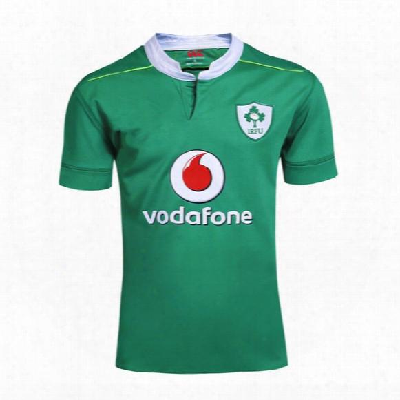 Wholesale 16/17 Ireland Rugby Jerseys Away Black Top 3aaa Quality Football Jerseys Rugby Wear Sports Jerseys