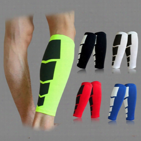 Wholesale-1pc Base Layer Compression Leg Sleeve Shin Guard Men Women Cycling Leg Warmers Running Football Basketball Sports Calf Support