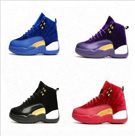 Wholesale 2017 Cheap Air Retro 12 Wool Xii Hot Sale Men Basketball Shoes High Cut Boots High Quality Sneakers Black White Sports Shoes