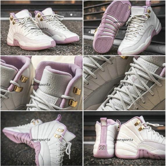 Wholesale 2017 Retro 12 Gs Heiress Plum Fog Retro 12s Women Basketball Shoes Sports Retros Shoes Womens Sneakers 1:1 Top Quality Size 36-40
