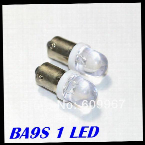 Wholesale Freeshipping, Car Led Bulbs , Ba9s 1 Led Dc12v Transparent High Brightness For Pinball