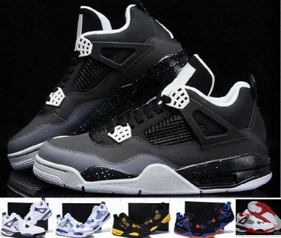 Wholesale High Quality Retro 4 Iv Men Women Basketball Shoes 4s Sports Shoes Retro 4 Basketball Shoes Oreo 4s Outdoor Sneakers 6-7-11-12-13
