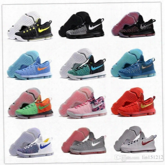 Wholesale Kd 9 Basketball Shoes Sneakers Runing Kevins Kds Viiii Lowe Elite Blue Durant Men's Athletic Kd9 Wholesale Sports Shoes